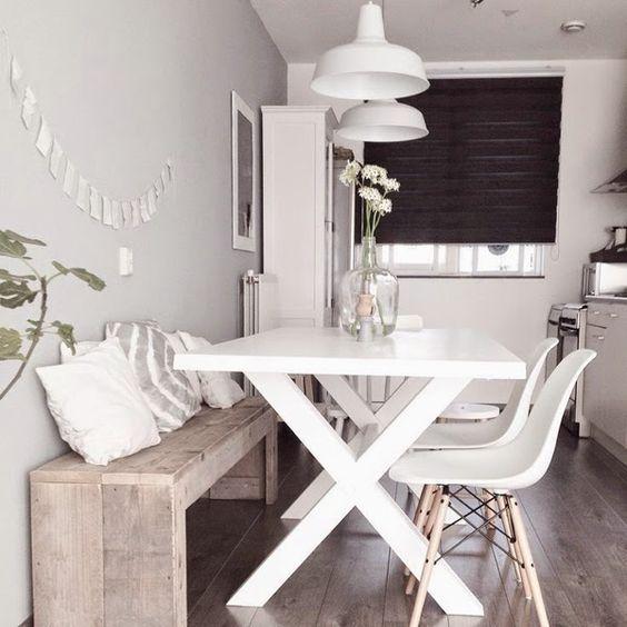 Resultado de imagen para banco con mesa comedor | Ideas | Pinterest ...