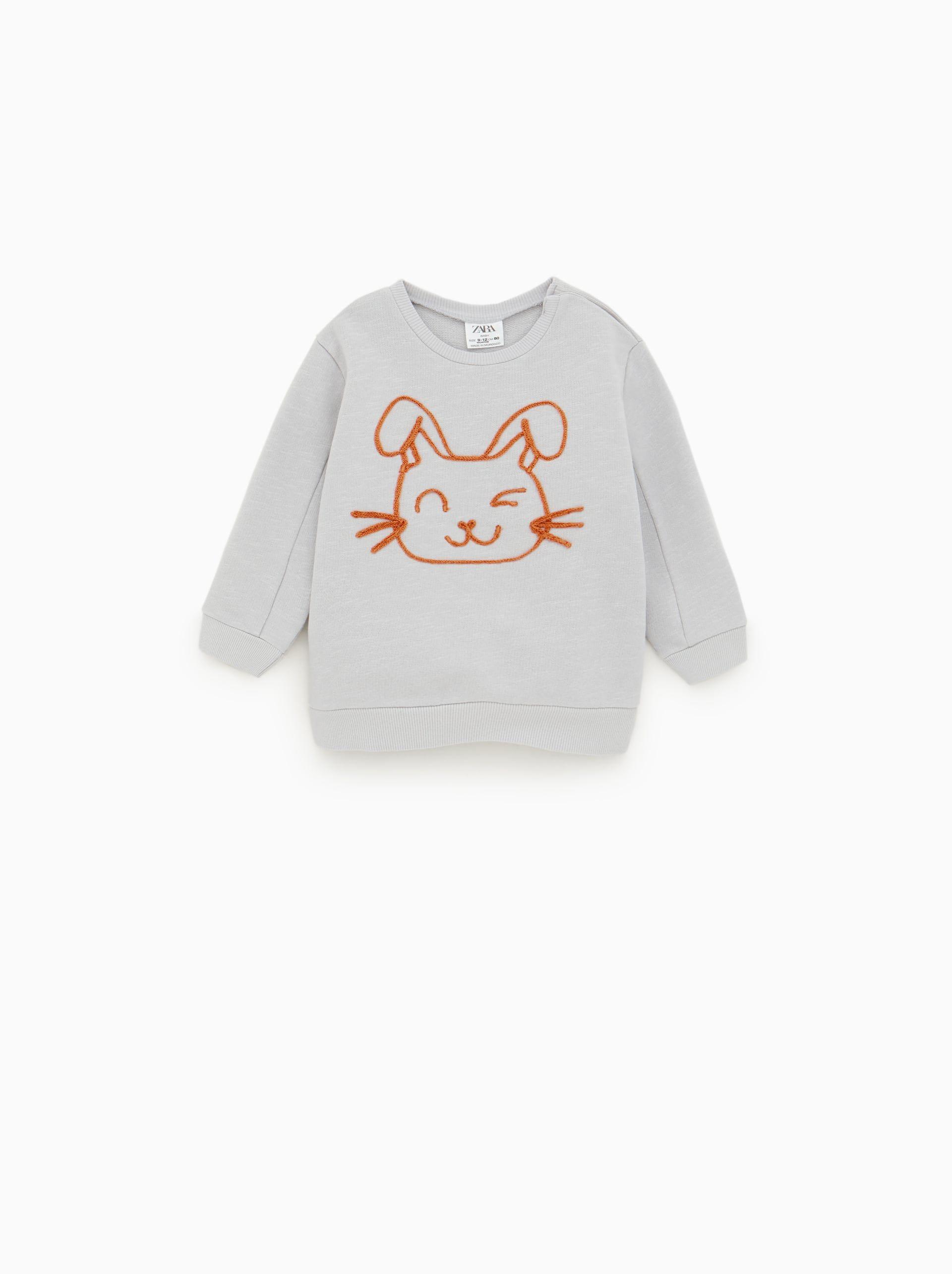 Baby Oversized Sweatshirt White [ 1484 x 950 Pixel ]