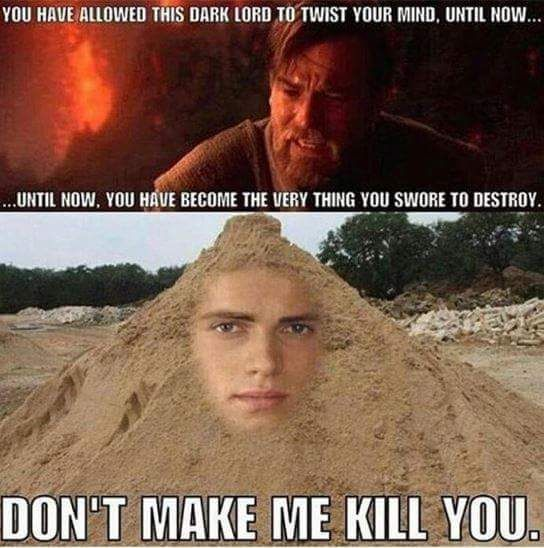 Massive Dump Of All Memes On My Phone Part 1 Funny Star Wars Memes Star Wars Humor Star Wars Memes