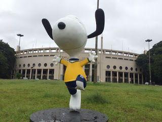 Estátuas do personagem Snoopy são danificadas em São Paulo