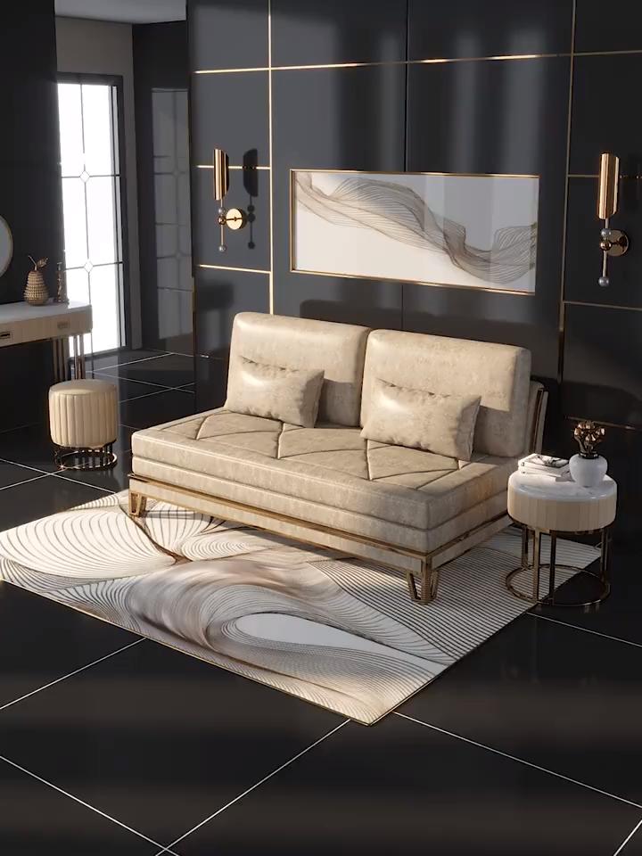 Luxury Light Sleeping Sofa Bed Bed Light Luxury In 2020 Bequemes Schlafsofa Bequemes Sofa Luxusschlafzimmer