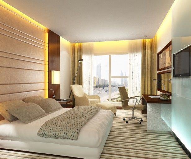 Exquisite Modern Japanese Interior Design for Your Home Inspiring: Modern Bedroom Design With Comfortable Bed Beautiful Blanket Cozy Armchair And Lovely Horizontal Carpet Motif ~ bubaraba.com Apartment Inspiration