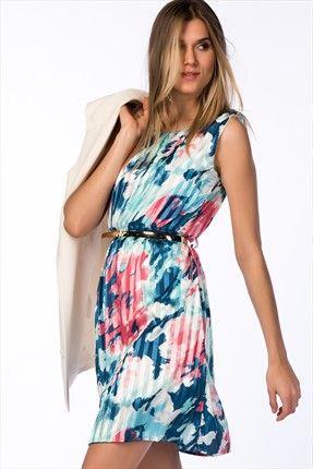 Saks Mavi Elbise 1280ss150105 Trend Trendyol Goruntuler Ile Elbise The Dress Moda Stilleri