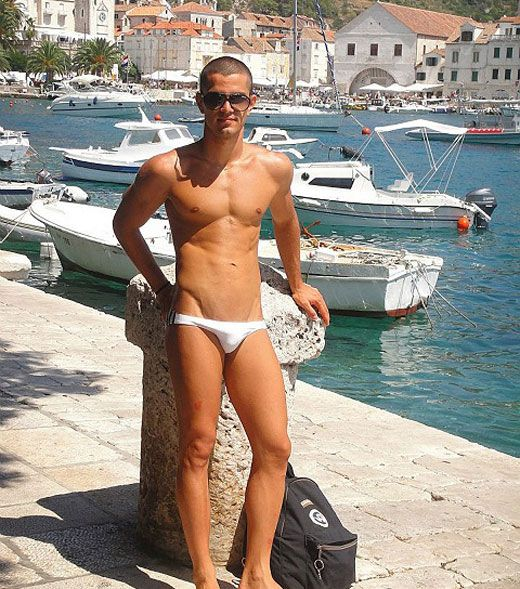 Tiny White Speedo