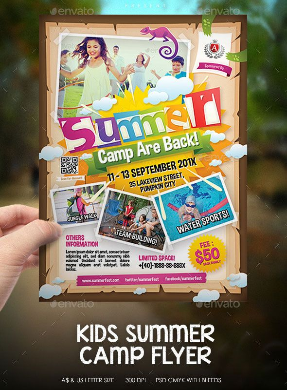 Kids-Summer-Camp-Event-Flyer.Jpg (590×800) | Flyers I Like | Pinterest