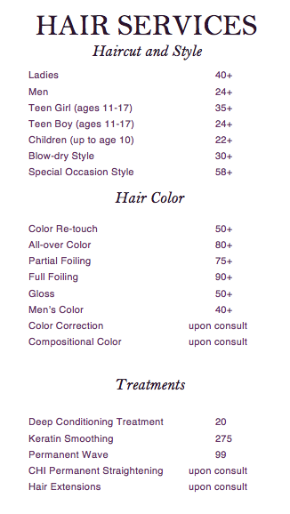 Hair Prices Salon Hair Salon Interior Cosmetology Student Salons