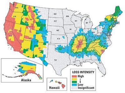 Earthquake Probability Map Us Corralitos California