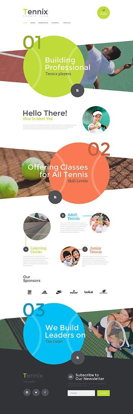Template 57567 - Tennix Tennis Responsive Website Template