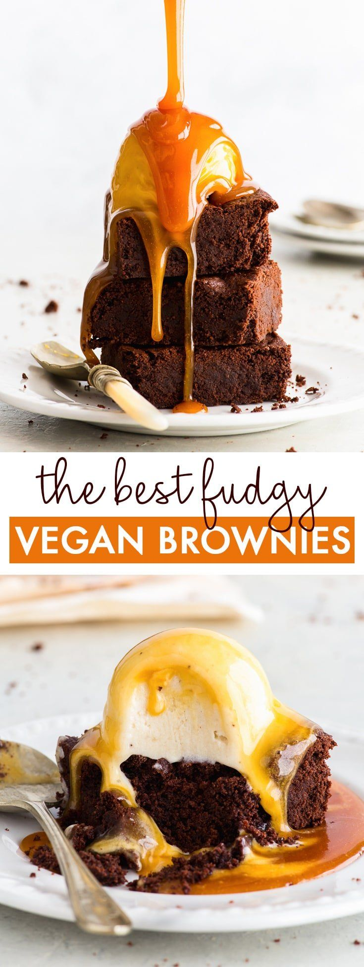 The Best Vegan Chocolate Brownies. Ever. - These vegan chocolate brownies will blow your mind. Deca