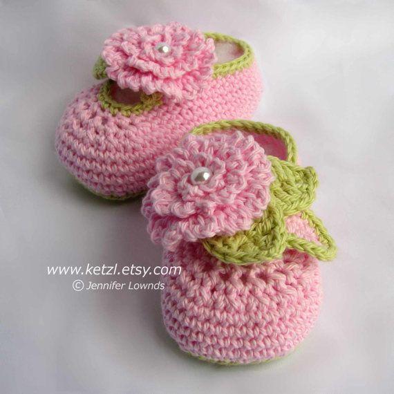 Baby Booties Crochet Pattern flower booties pattern booties crochet ...