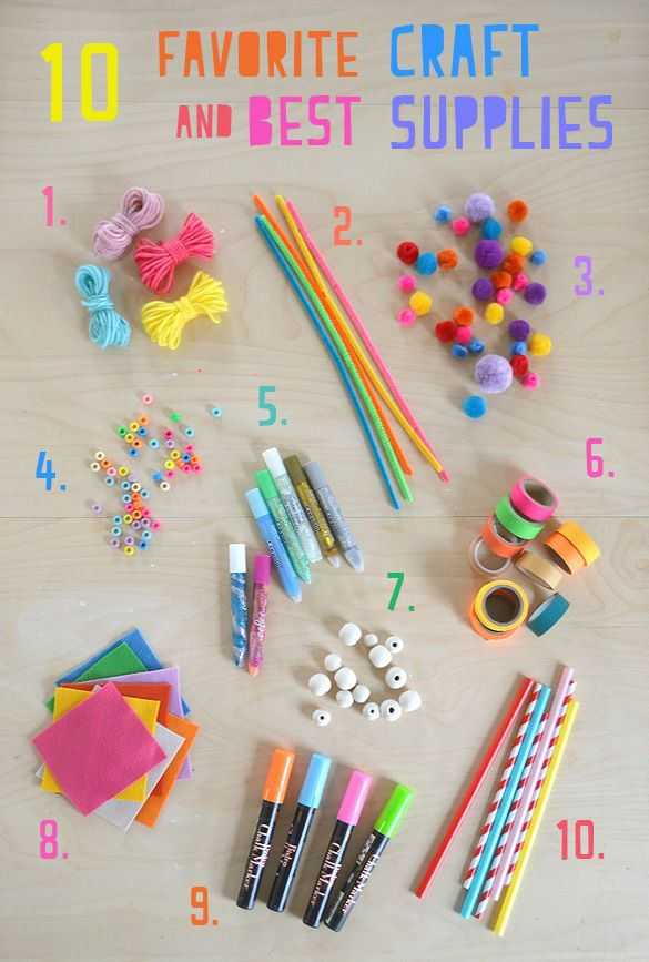 My 10 Favorite Craft Supplies For Kids With Images Kids Craft