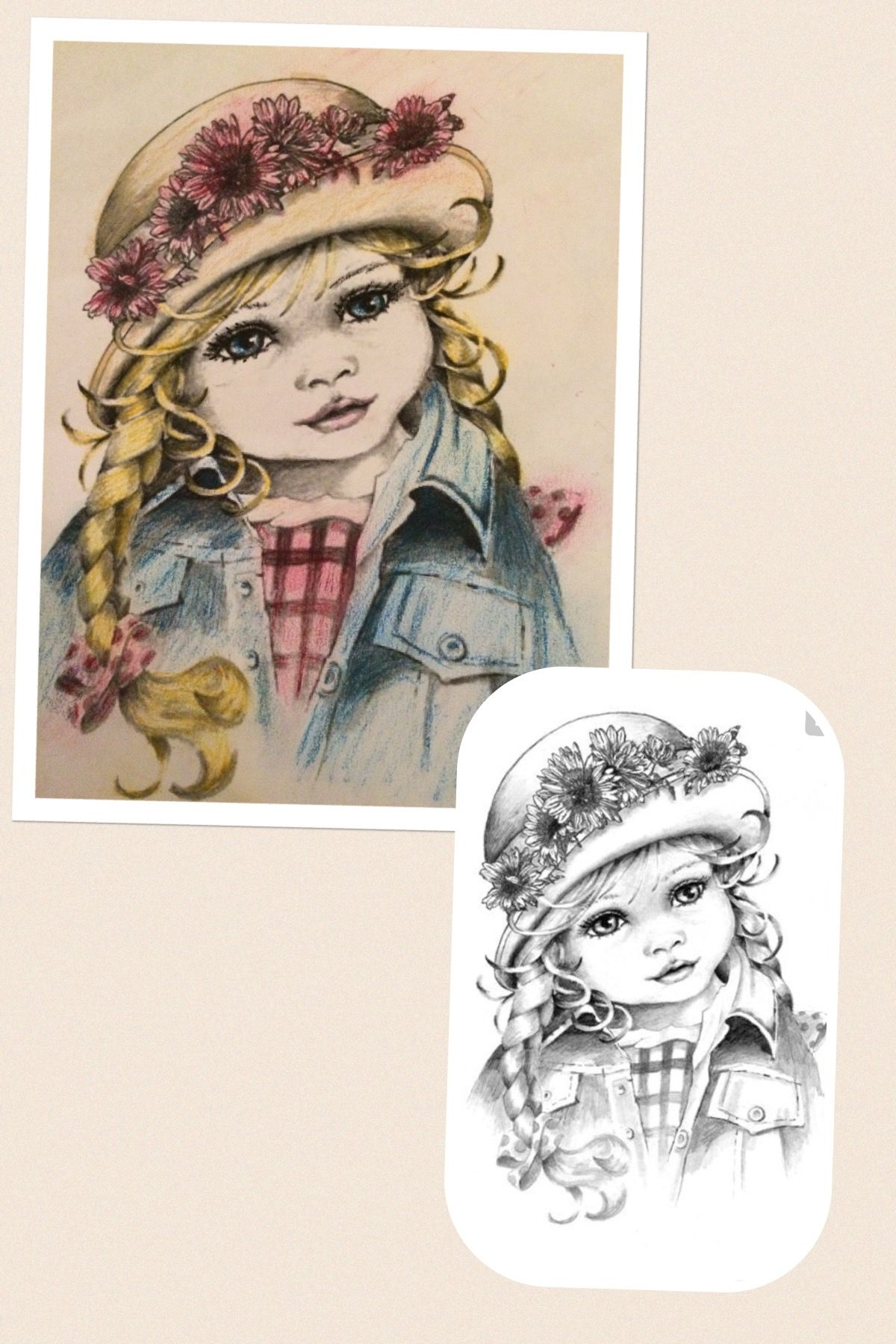 Before and after. Used oil pastels. | Coloring Pages for ...