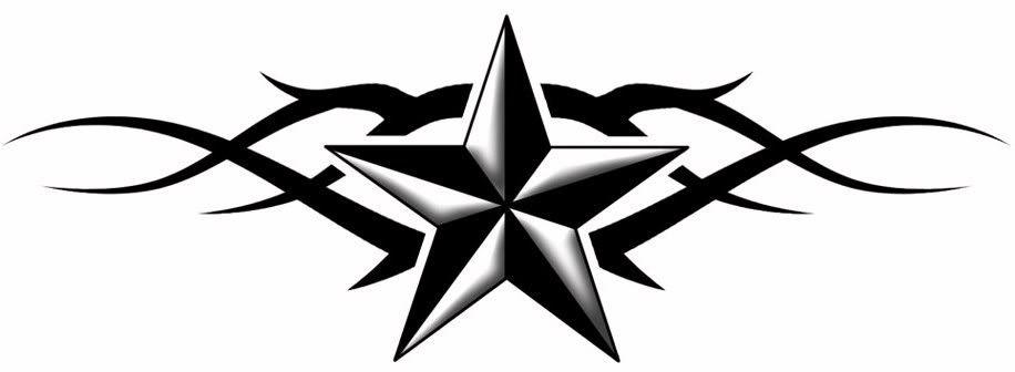 Black Tribal And Nautical Star Tattoo Design Star Tattoos Best Star Tattoos Nautical Star Tattoos