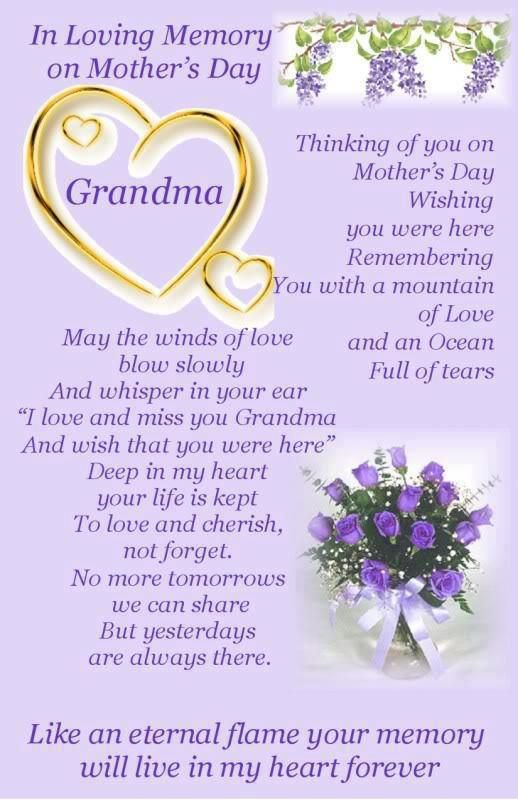 Grandma Happy Mother S Day Love And Miss You