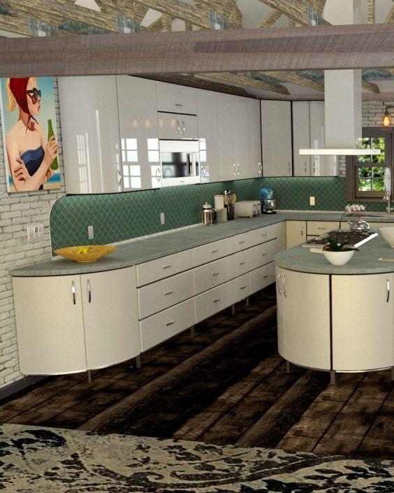 Toro Kitchen Cabinets: White powder coated steel doors ...