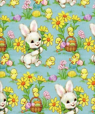 Vintage 60s bunny flowers chicks easter gift wrap wrapping paper vintage 60s bunny flowers chicks easter gift wrap wrapping paper nos negle Image collections