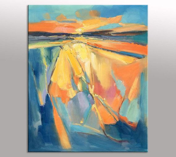 Abstract Landscapes, Canvas Painting, Bedroom Decor, Abstract ...