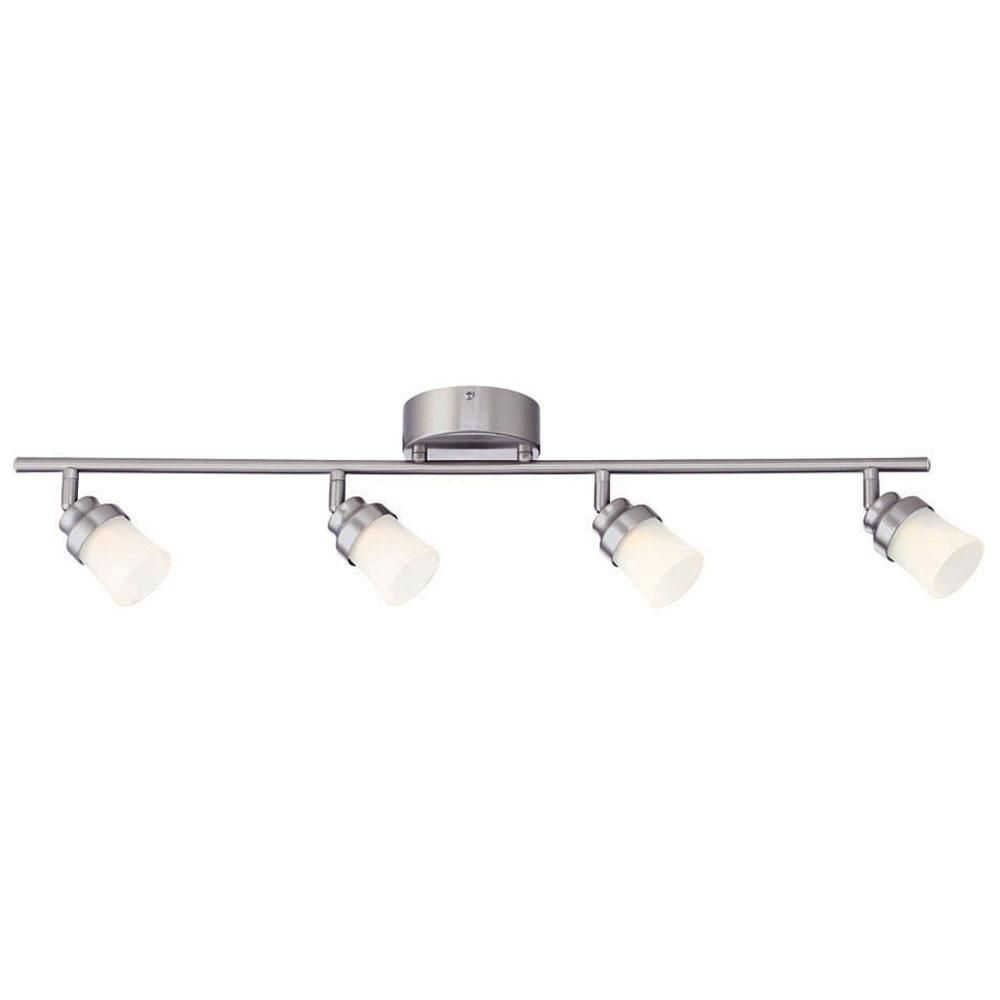 led track lighting for kitchen. Brushed Nickel LED Track Lighting Kit With 4 Lights- Led For Kitchen