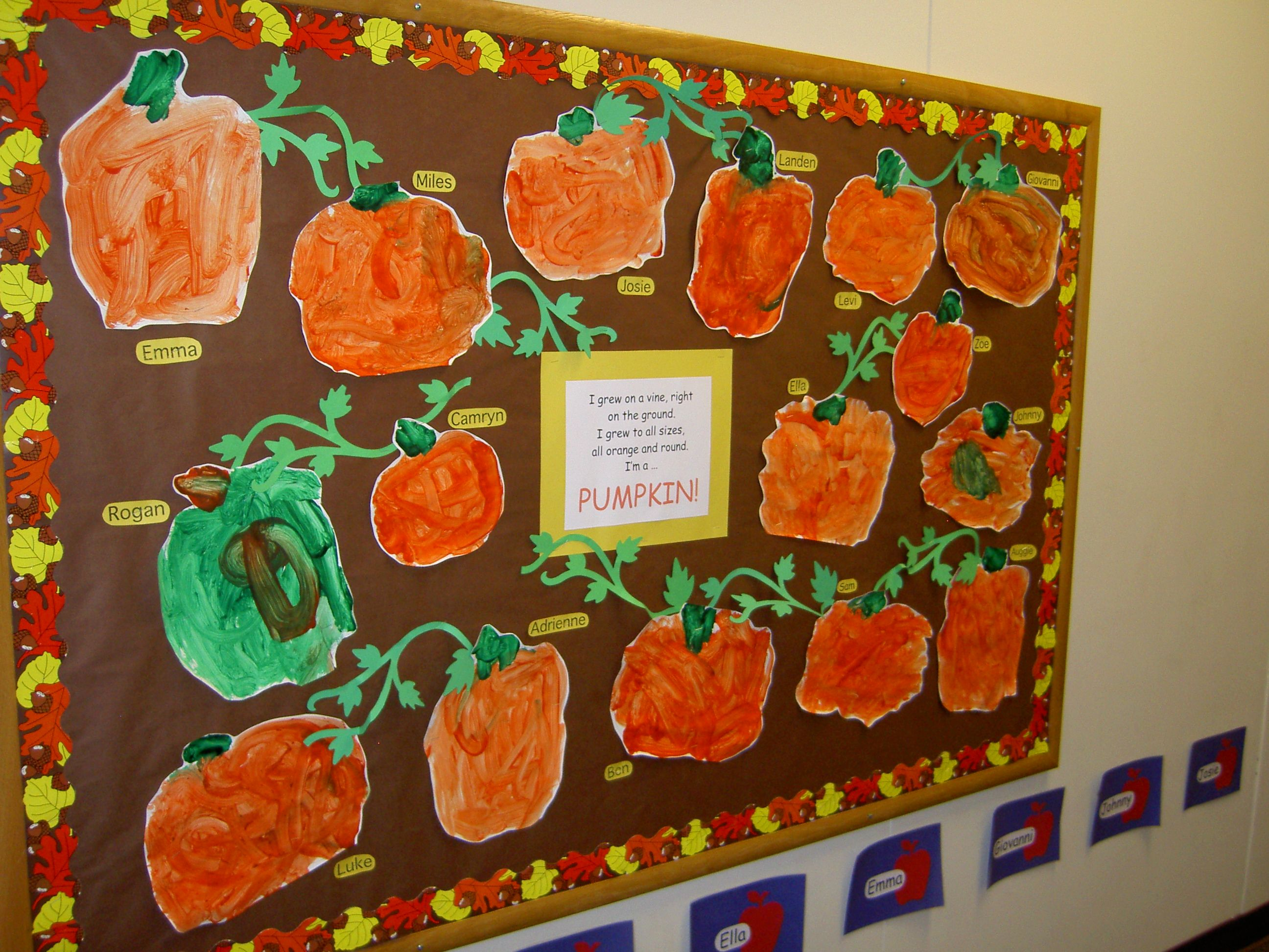Pumpkin Bulletin Board