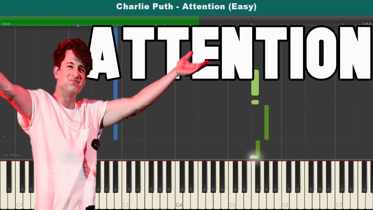 Attention Piano Tutorial Free Sheet Music Charlie Puth Free