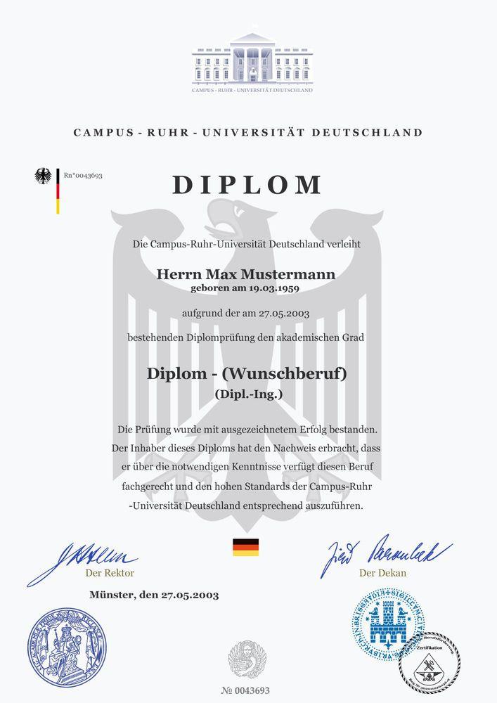 Berufsdiplom koch berufsurkunde diplom meisterurkunde for Koch deutschland