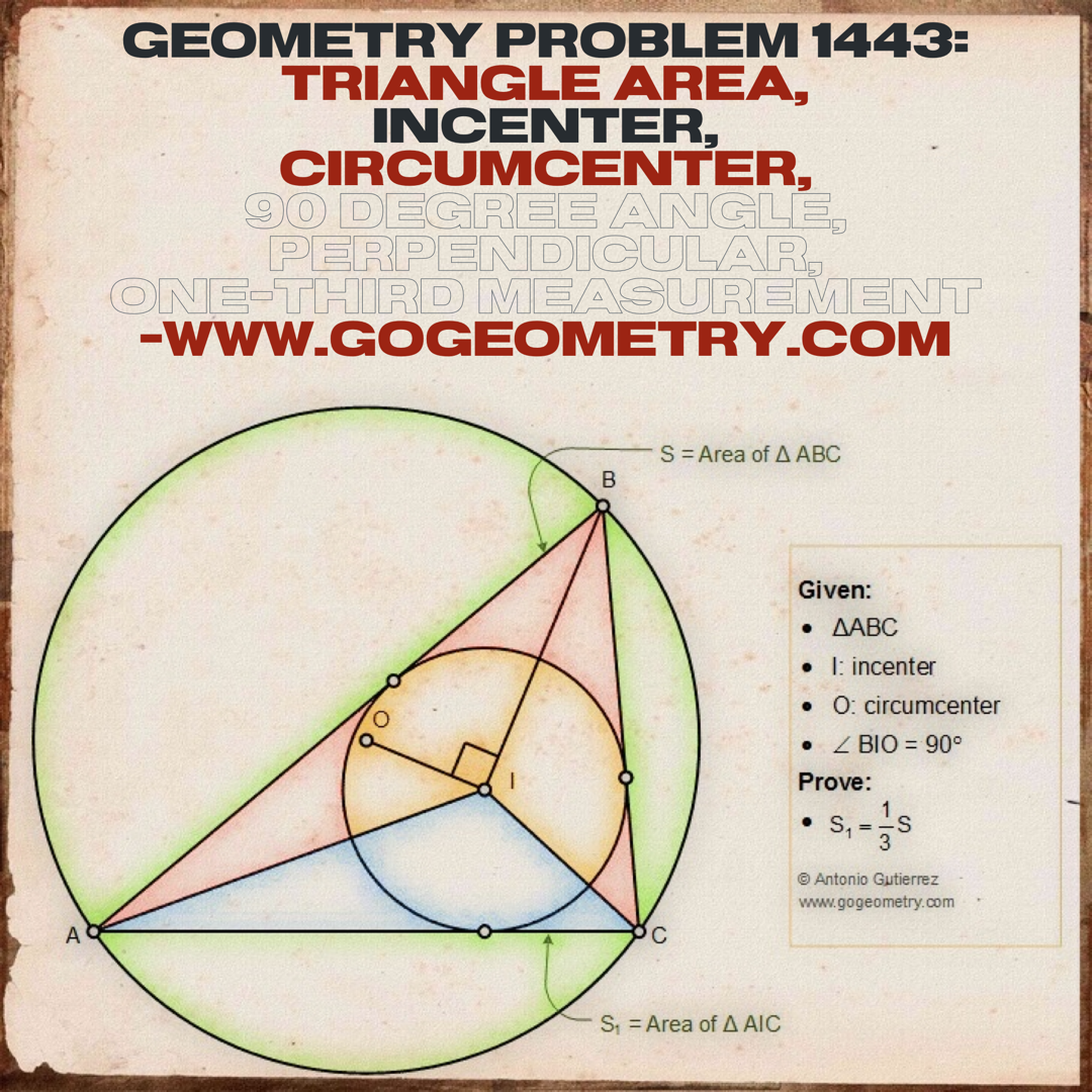 How To Prove Geometry Problem 1443 Geometry Problems Learning Math Geometry [ 1080 x 1080 Pixel ]