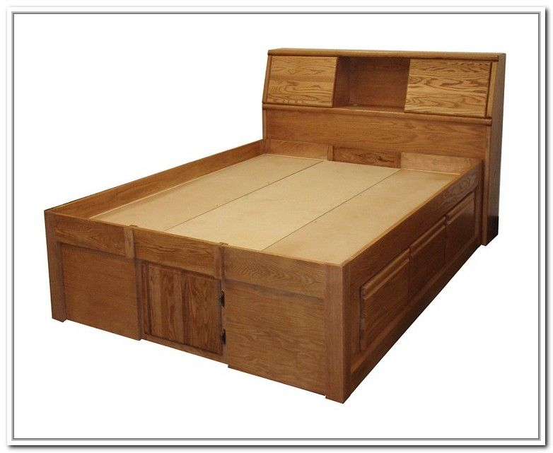 King Size Platform Bed With Storage And Headboard Bedroom Ideas