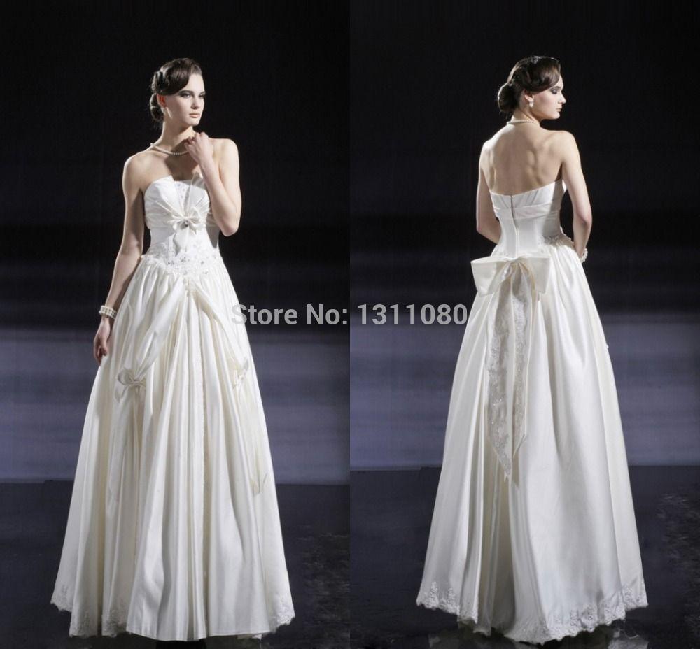 Plus size party dresses for weddings  Plus Size Floor Length Flowers Strapless Sleeveless Satin Wedding