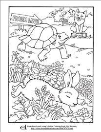 Tortoise And Hare Coloring Page Adult Coloring Coloring Pages
