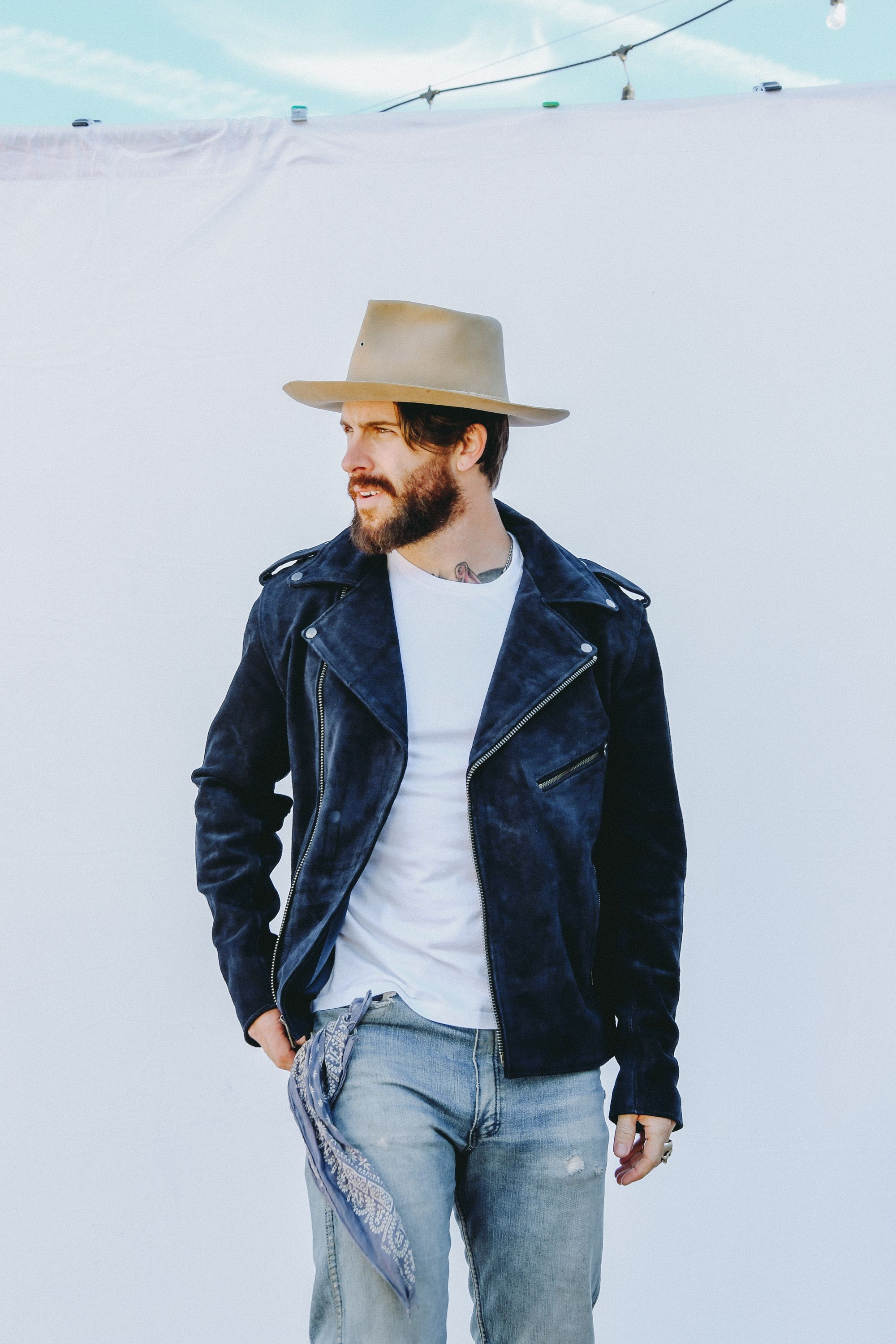 Levi Stocke in Understated Leather mens Navy Suede Easy