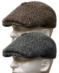 ef918bdaea2 Italian Wool Tweed Gatsby Newsboy Cap Men Ivy Hat Golf Driving Flat ...