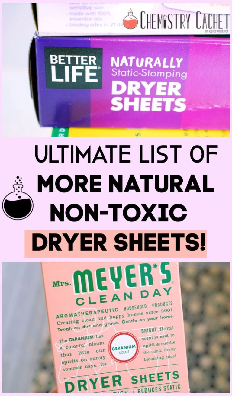 The Ultimate List Of More Natural Non Toxic Dryer Sheet Options