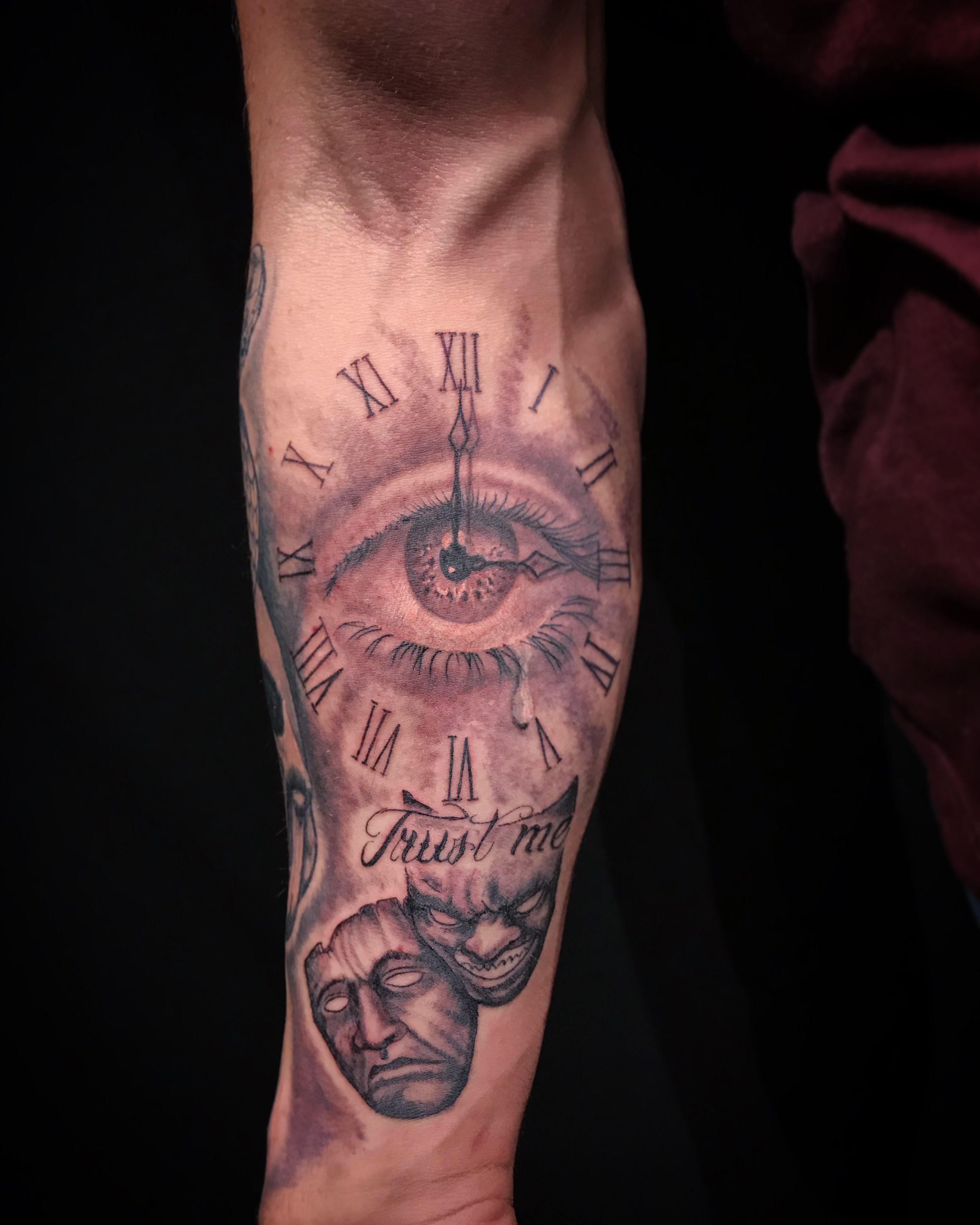 Eye, time, script, masks!