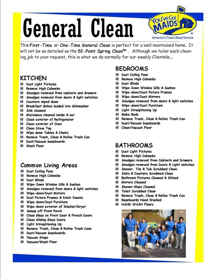 photo about Free Printable House Cleaning Checklist for Maid known as Totally free Printable Place Cleansing Charts Youve Bought MAIDS