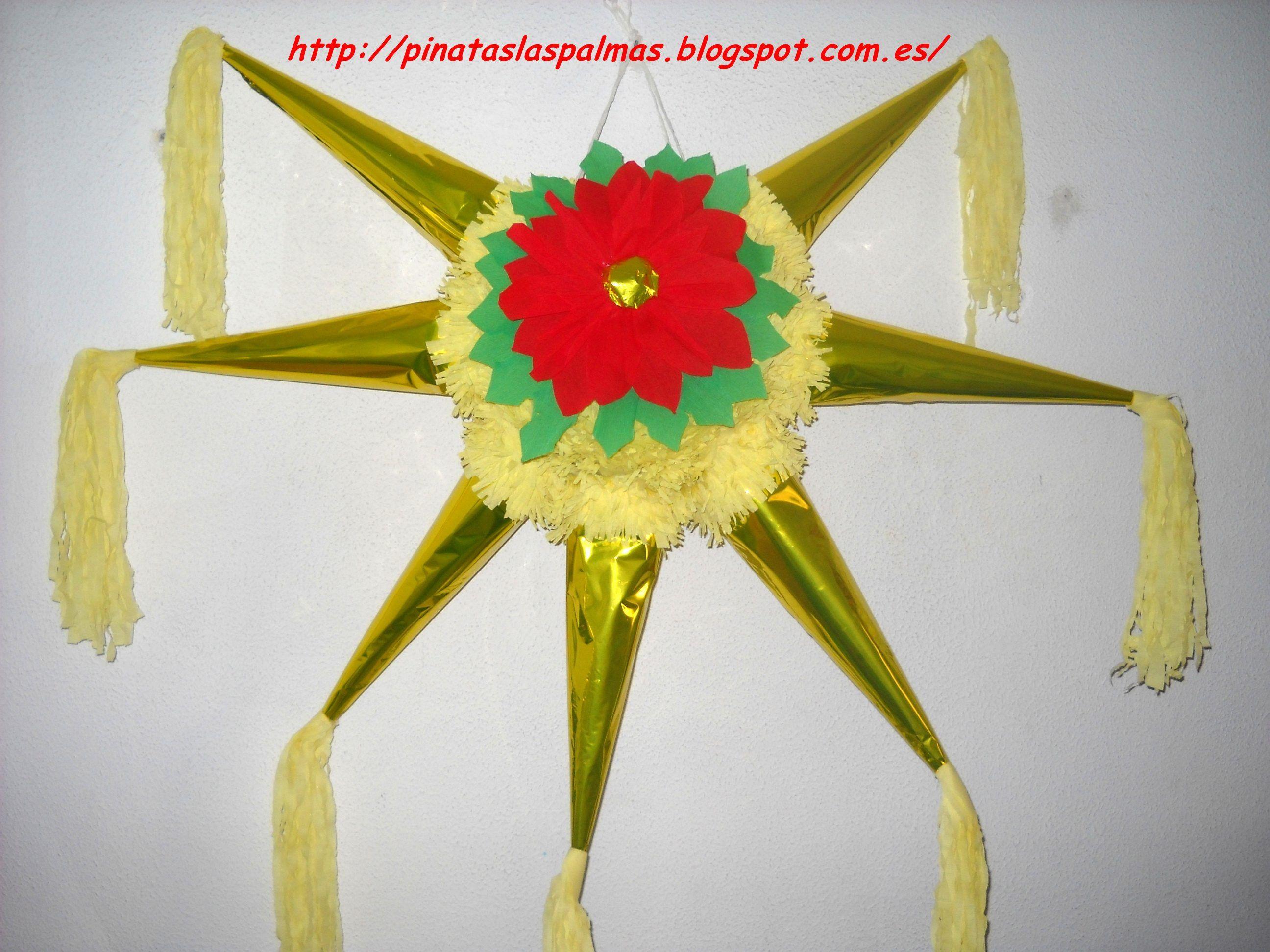 piata de estrella de navidad