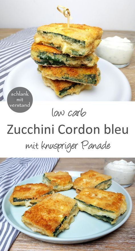 Zucchini Cordon bleu low carb #blue