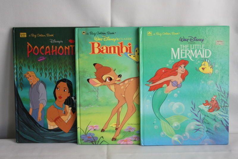Lot of 3 of Big Golden Books Walt Disney Classic Stories
