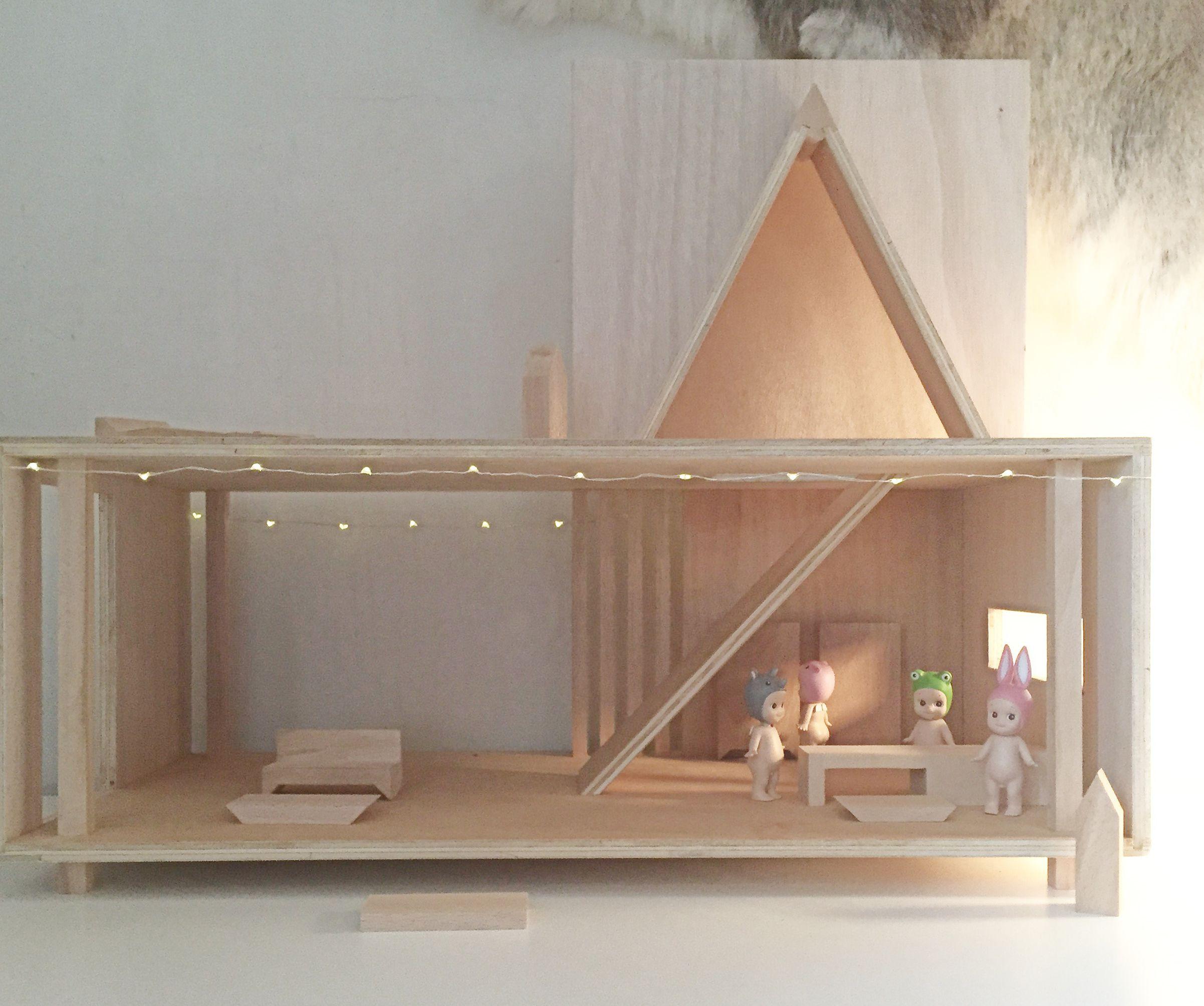 Maison De Poup E Dessiner Et Fabriquer En France Dollhouse  # Fabriquer Un Classeur En Bois