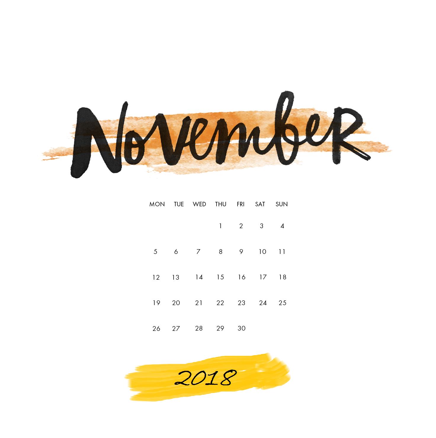 November 2018 Ipad Calendar Wallpaper Calendar Wallpaper Desktop Wallpaper Calendar November Wallpaper