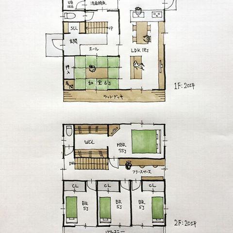 40坪の間取り 床の間付き和室6帖がある5ldkの間取り 実際の