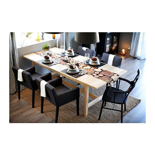 norden extendable table ikea extendable dining table with 1 extra leaf seats 8 10 makes it. Black Bedroom Furniture Sets. Home Design Ideas
