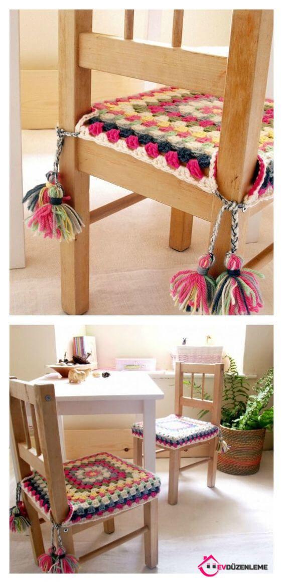 16 Sandalye Kaplama Örneği Yemek Odasına Farklı Bir Görünüm Verecek