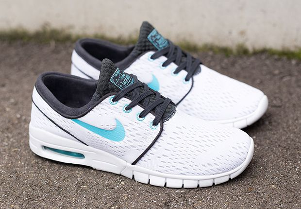 bc0bafce79a Nike SB Stefan Janoski Max - White - Clearwater - Anthracite - SneakerNews .com