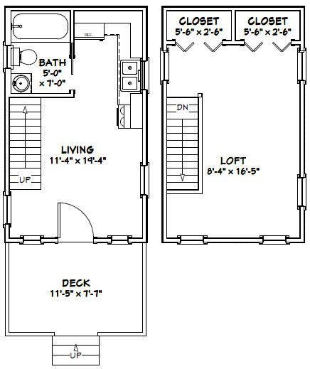 Kitchen Floor Plans With Dimensions 8 X 12 Yptzautc: 12x20 Tiny Houses PDF Floor Plans 452 Sq By
