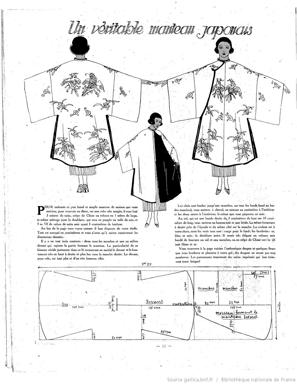 Les Modes de la femme de France | 1921-08-21 | Gallica | yukata ...