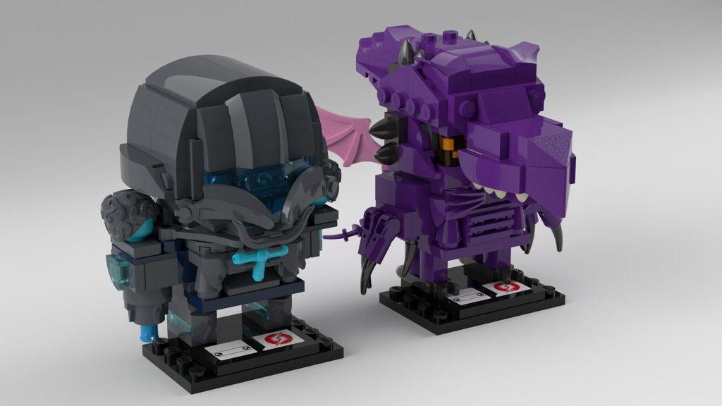 LDD] BrickHeadz Metroid: Dark Samus & Ridley