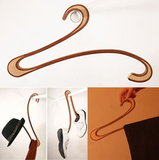 15 Cool Coat Hangers And Modern Clothes Hanger Designs 옷걸이