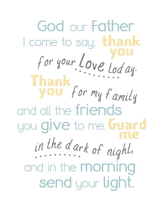 God our Father I come to say, thank you for your love today. Thank ...
