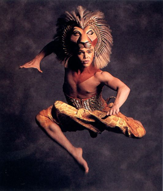 The Original Broadway Cast Of Disney S The Lion King Simba The Combination Of The Puppetry Along With Their F Lion King Musical Lion King Costume Lion King