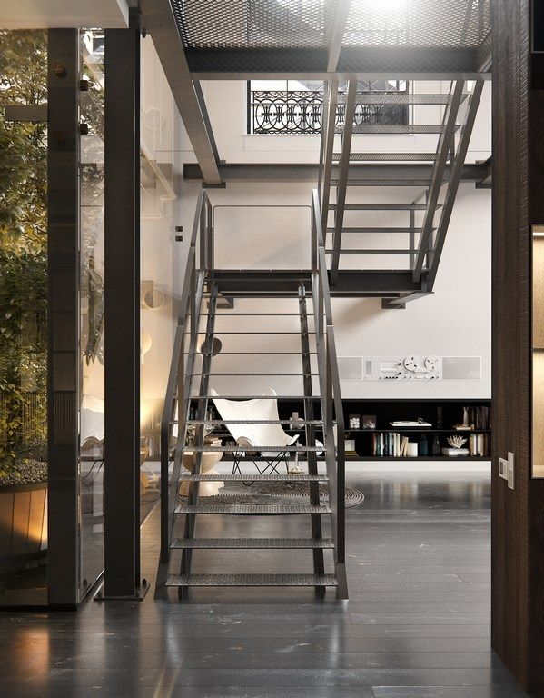 Un loft industriel à New York   Loft studio, Loft ...